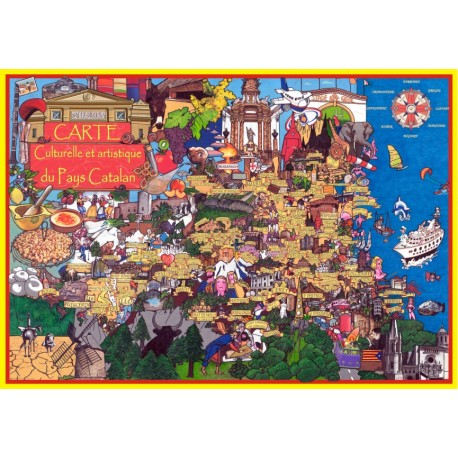 Carte culturelle et artistique du Pays Catalan
